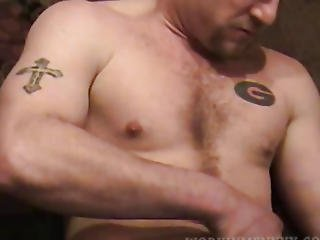 Aged Non-professional Shane Jerking Off