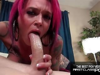 Tattooed Redhead Loves To Suck Monster Cock, Anna Bell Peaks -firstclasspov