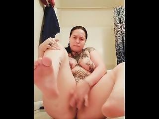 amateur, kont, dikke kont, dikke tiet, fetish, voet, hoet, masturbatie, poes, solo, tattoo