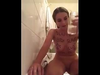English Teen Chav Slag Pisses And Spits In A Jar And Drinks It All (name?)