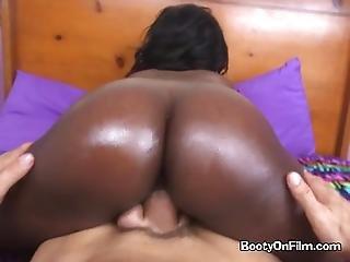 Ebony Goddess Skyler Booty Claps On Married White Mans Lap