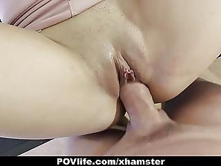 Povlife Hot Brunette Fucked On Piano