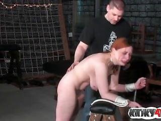 Hot Girl Spanking With Cumshot