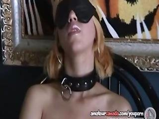 Blindfolded Teen Submits To Sex Toys In Cuffs