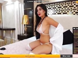 Annacoelho See Through White Bra And Sexy Posing - Livejasmin