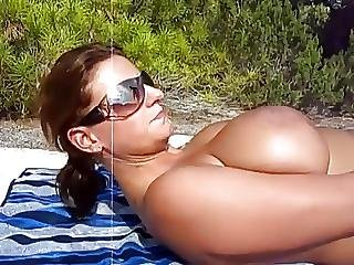 amatorski, plaża, duże naturalne cycki, sperma, wytrysk, naturalne, naturalne cycki
