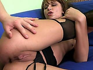 Slut Lexie Owens Get Her Nylons Ripped And Ass Screwed Hard By Her Stepbrother