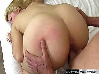 Blonde Willow Devine Sucks The Cum Out Of Her Stepbros Cock