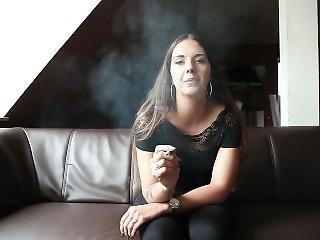 German Teen Smoking - Yasmina Facebook Privat