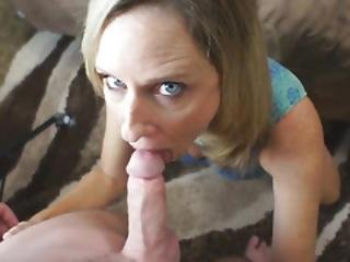 Stepmom And Stepson Blowjob With Cumshot
