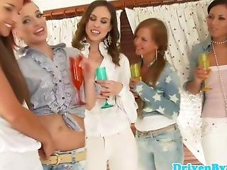 Gorgeous Lesbian Bathtime For Babes In Jeans