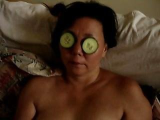 Me Solo Naked With Pee Cucumber On Eyes
