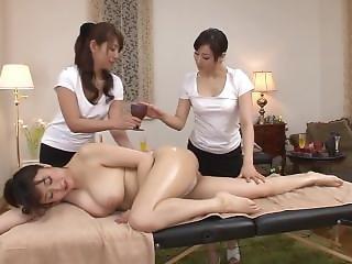Japansk, Lesbisk, Massage, Taxi, Trekant