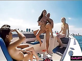 Lewd Legal Age Teenager Besties Boat Party Leads To Wicked Group Sex
