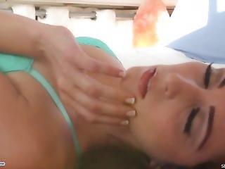 Carlotta Stripping In A Beach House
