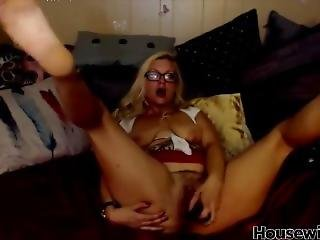 Blonde Housewife In Sexy Glasses