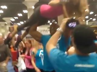 Guy Overhead Lift Girl