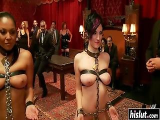 Iona Grace And Another Girl Got Tied Up Before They Got Fucked Roughly
