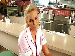 Busty waitress pheonix marie