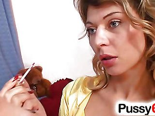 Blonde Playgirl Kristy Lust Pervy Pussy Open
