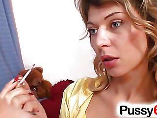 Babe, Rubia, Checa, Agujero Grande, Vagina Abierta, Coño, Estirando Coño, Solo, Difundiendo