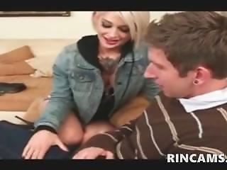 Lonely Guy Seduced By Tattooed Blonde Chick