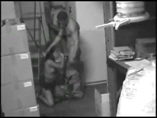 Security Camera � Brunette Slut Secretary With Fuck
