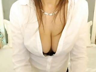 Hot Big Boob Babe Tease And Strip