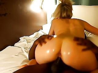 Big Ass Blonde Riding Black Cock