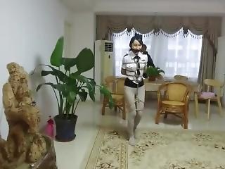 amatør, asiatisk, bondage, japansk, politi, solo