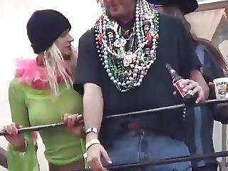 Mardi Gras Breast Suck