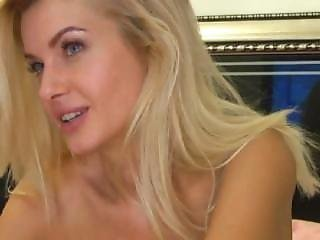 Big Tit Blonde Fingers Her Pink Pussy & Eats Her Juices Mfc