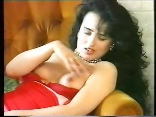 Susanna Francessca Stripping Out Of Red Fishnets, Tits And Pussy On Show.