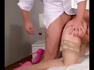 Busty Spanish Secretary Fucked And Cumed In Her