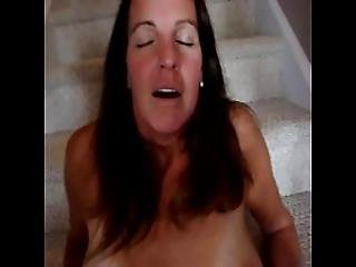 Slut Wife Fucked On Stairs While Husband Is Away