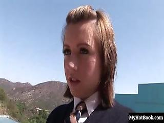 Girlish Slut, Lexi Belle, Plays An 18yearold Schoolgirl, Wearing A Traditional School Girl