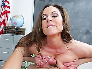 Top Aged Devours Knob In The Classroom
