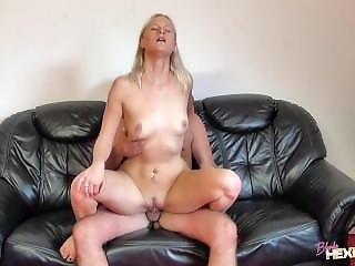 Blondehexe - Awesome Threesome Fucked From 2 Guys