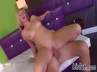 Seductive Blonde Minx Has Her Cunt Drilled