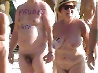 amatør, fantastisk, nudist, offentlig