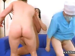 Physician Helps To Check On A Virgin Teen And Assists With Hymen Physical And Devirginizing Or First Time Hardcore Penetration