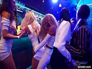 Sinfully Rich Babes Of Porn Licking Their Pussies In Public