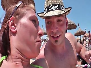 Spiaggia, Casting, Scopata, Tedesca, Vecchi, Adolescente