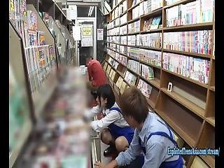 Hikaru Minazuki Cute Filthy Teen Gets Ambushed In Book Store, Made To Fuck All Over The Store Chubby Ass Ripples As She Does Standing Doggy, Login To Members For The Full Movie