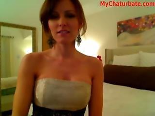 Hot Brunette Gets Crazy On Webcam