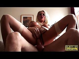 Busty Brit Sub Dominated By Her Maledom