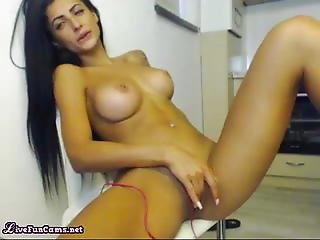 Gorgeous Indian amateur wife rubs her pinky