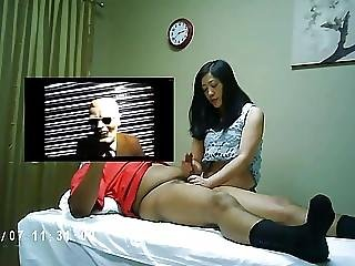 Aziatisch, Chineze, Handjob, Verborgen Camera, Massage
