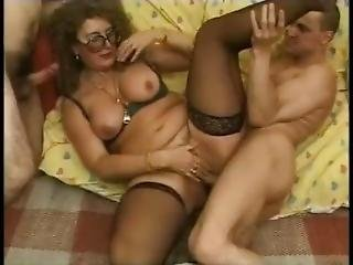 stor pupp, fransk, hardcore, voksent, milf, grovt, sex, trekant, vintage