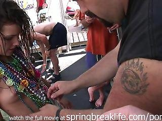 Naked Girl With Beads